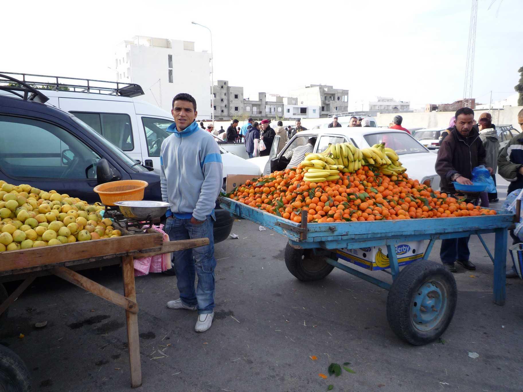 vendeur d'agrumes en Tunisie