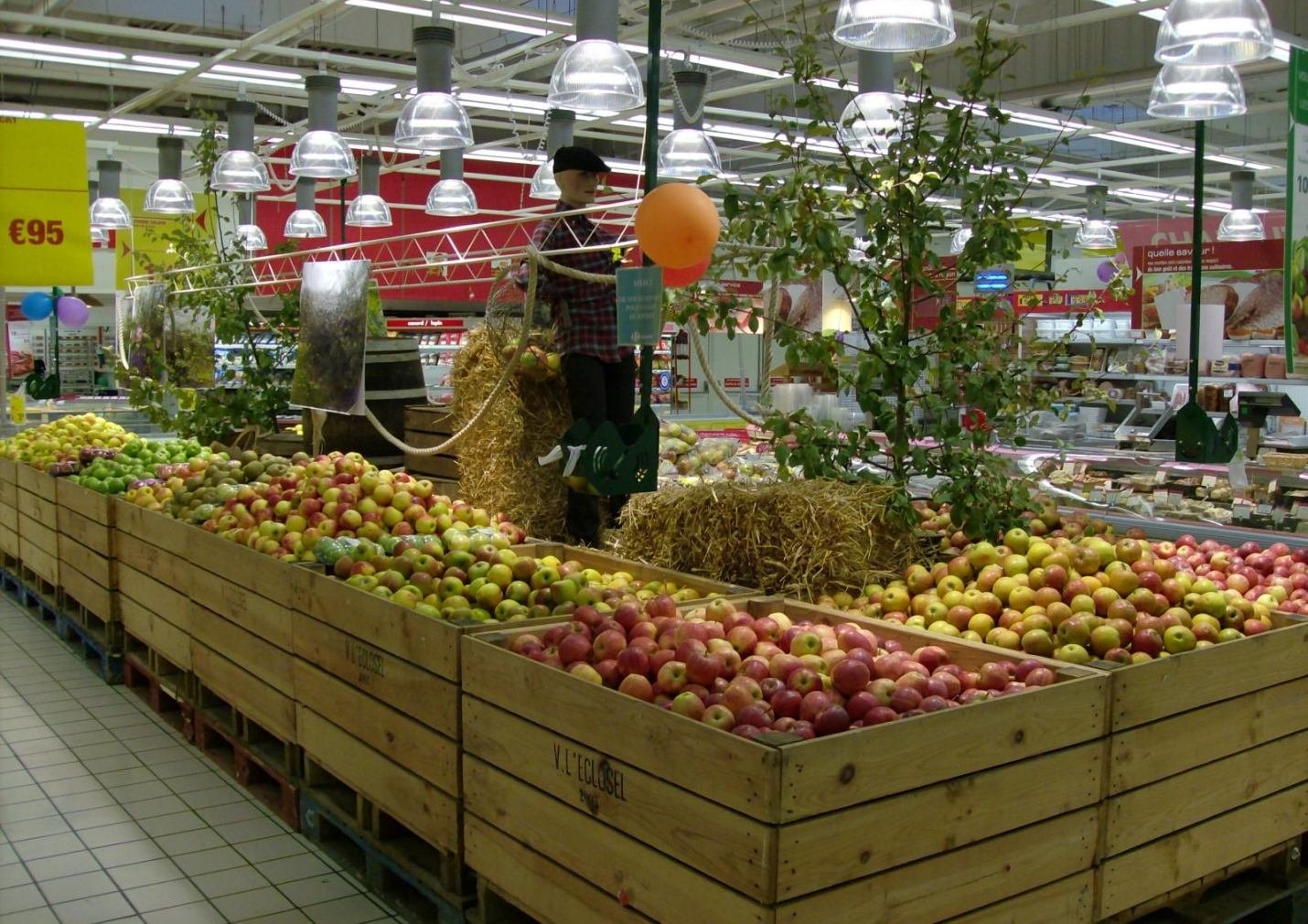 rayon fruits et légumes carrefour